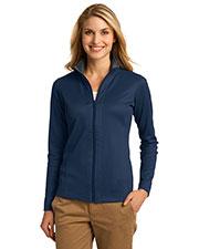 Port Authority L805 Women Vertical Texture Full-Zip Jacket at GotApparel