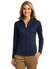 Port Authority L805 Women Vertical Texture Full-Zip Jacket at GotApparel