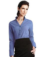 LILAC BLOOM LB757 Women Meredith Long Sleeve Woven Shirt at GotApparel