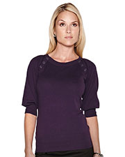 LILAC BLOOM LB925 Women Emma 3/4 Knit Elbow Sleeve Sweater at GotApparel