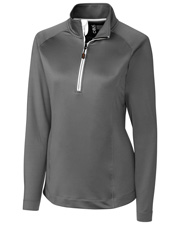 Cutter & Buck LBK00010 Women Jackson Half-Zip Overknit at GotApparel