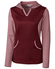 Cutter & Buck LCK00025 Women L/S Tackle Hoodie at GotApparel