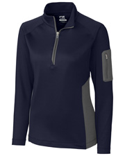 Cutter & Buck LCK08666 Women Shaw Hybrid Half-Zip at GotApparel