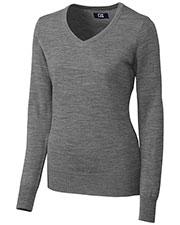 Cutter & Buck LCS04774 Women Long-Sleeve Douglas V-Neck at GotApparel