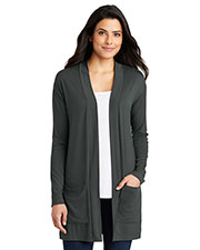 Port Authority LK5434 Ladies 4.4 oz Concept Long Pocket Cardigan at GotApparel