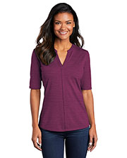 Port Authority LK583 Women Stretch Heather Open Neck Top at GotApparel
