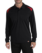 Dickies LL606T Men Tall Long-Sleeve Performance Polo at GotApparel