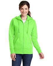 Port & Company LPC78ZH Women Classic Full-Zip Hooded Sweatshirt at GotApparel