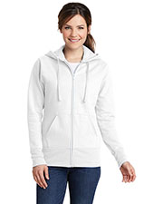 Port & Company LPC78ZH Women Classic Full-Zip Hooded Sweatshirt at GotApparel