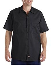 Dickies LS307 Men Industrial Short-Sleeve Cotton Work Shirt at GotApparel