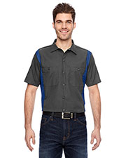 Dickies Workwear LS524 Men Industrial Colorblock Shirt at GotApparel