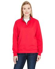 Fruit of the Loom LSF95R Women 7.2 oz. Sofspun® Quarter-Zip Sweatshirt at GotApparel