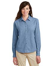 Port & Company LSP10 Women Long-Sleeve Value Denim Shirt at GotApparel