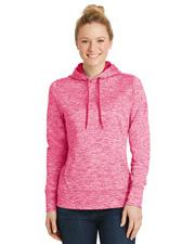 Sport-Tek® LST225 Women   PosiCharge® & Electric Heather Fleece Hooded Pullover at GotApparel