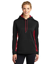 Sport-Tek® LST235 Women Sport-Wick Fleece Colorblock Hooded Pullover at GotApparel