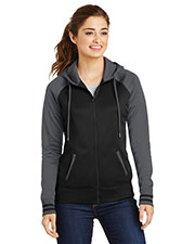 Sport-Tek® LST236 Women Varsity Fleece Full-Zip Hooded Jacket at GotApparel