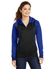 Sport-Tek® LST236 Women Varsity Fleece Full-Zip Hooded Jacket at GotApparel