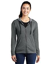Sport-Tek LST293 Women PosiCharge ® Tri-Blend Wicking Fleece Full-Zip Hooded Jacket at GotApparel