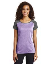 Sport-Tek® LST362 Women Heather-On-Heather Contender™ Scoop Neck Tee Jacket at GotApparel
