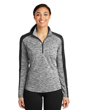 Sport-Tek® LST397 Women PosiCharge® Electric Heather Colorblock 1/4-Zip  at GotApparel