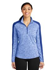 Sport-Tek® LST397 Women PosiCharge® Electric Heather Colorblock 1/4-Zip  at GotApparel