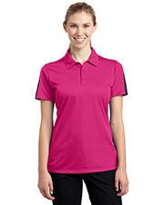 Sport-Tek® LST695 Women PosiCharge®   Active Textured Colorblock Polo at GotApparel