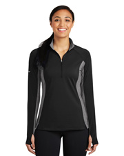 Sport-Tek® LST854 Women Sport-Wick Stretch Contrast 1/2-Zip Pullover  at GotApparel