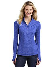 Sport-Tek LST855 Women Reflective Heather 1/2-Zip Pullover at GotApparel