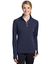 Sport-Tek® LST860 Women Textured 1/4-Zip Pullover at GotApparel