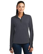 Sport-Tek® LST861 Women  Sport-Wick Textured Colorblock 1/4-Zip Pullover at GotApparel