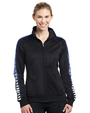 Sport-Tek® LST93 Women Dot Sublimation Tricot Track Jacket at GotApparel