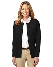 Port Authority LSW304 Women Value Jewel Neck Cardigan at GotApparel