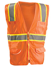 OccuNomix LUXATR Men Classic Mesh Two-Tone Surveyor Vest, Class 2 at GotApparel