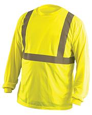 OccuNomix LUXLSET Men Classic Long Sleeve Wicking Birdseye Shirt at GotApparel
