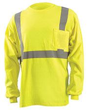 OccuNomix LUXLST2 Men Classic Flame Resistant Long Sleeve HRC 2 T-Shirt at GotApparel