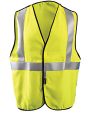 OccuNomix LUXSSBR Men Premium Flame Resistant 5-pt. Break-Away Solid HRC 1 Vest at GotApparel