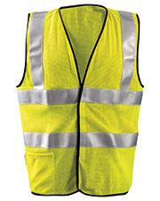 OccuNomix LUXSSFC Men Premium Flame Resistant Dual Stripe HRC1 Mesh Vest at GotApparel