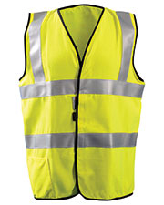 OccuNomix LUXSSFG Men High Visibility Classic Solid Standard Safety Vest at GotApparel