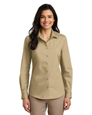 Port Authority LW100 Women Sleeve Carefree Poplin Shirt     at GotApparel