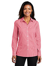 Port Authority LW644 Women Broadcloth Gingham Easy Care Shirt at GotApparel