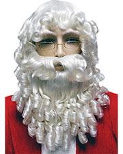Halloween Costumes LW64WT Men Santa Set Curly White at GotApparel