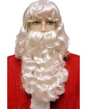 Halloween Costumes LW67WT Men Santa Set 002 Super Dlx White at GotApparel