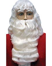 Halloween Costumes LW68WT Men Santa Set 001 Dlx White at GotApparel