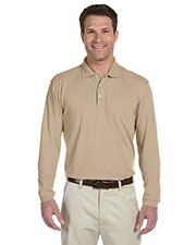 Harriton M265L Men 5.6 Oz. Easy Blend Long-Sleeve Polo at GotApparel