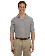 Harriton M265P Men 5.6 oz. Easy Blend Polo with Pocket at GotApparel
