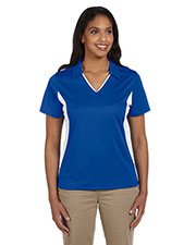 Harriton M355W Women Side Blocked Micro Pique Polo at GotApparel