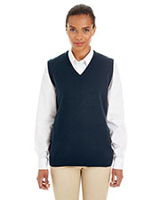 Harriton M415W Women Pilbloc  V-Neck Sweater Vest at GotApparel