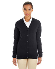 Harriton M425W Women Pilbloc  V-Neck Button Cardigan Sweater at GotApparel