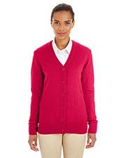 Harriton M425W Women Pilbloc  V-Neck Button Cardigan Sweater at GotApparel