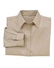 Harriton M520W Women Long-Sleeve Millennium Twill Shirt at GotApparel